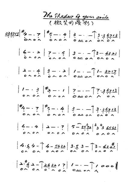 c调24孔口琴曲谱